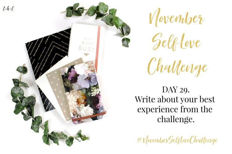 #NovemberSelfLoveChallenge